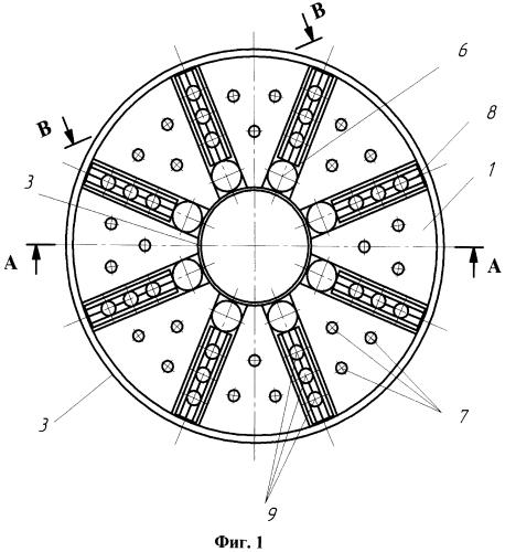 Способ гашения осевых колебаний ротора, который вращается, с помощью вставных деталей на гидростатическом подвесе упорного подшипника скольжения