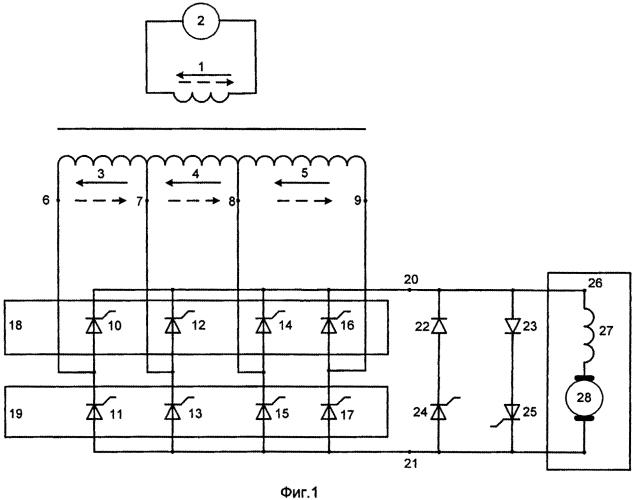 Способ управления многозонным выпрямительно-инверторным преобразователем однофазного переменного тока