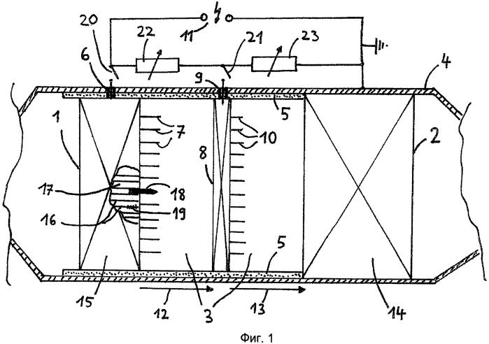 Способ и устройство для сокращения частиц сажи в отработанном газе двигателя внутреннего сгорания