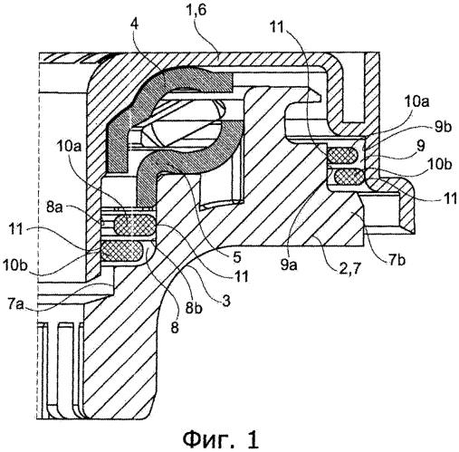Автомобильный буфер сжатия, содержащий группу из по меньшей мере двух установленных уплотнительных колец