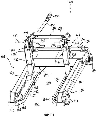 Транспортная тележка для перемещения поверхности для размещения пациента и/или опоры операционного стола