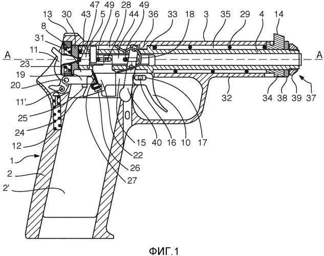Полуавтоматический пистолет со скользящим стволом