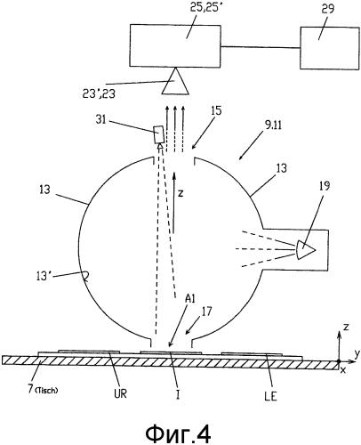 Способ и устройство для выполнения оптического сравнения между по меньшей мере двумя образцами, предпочтительно путем сравнения выбираемых участков, а также применение устройства для выполнения способа