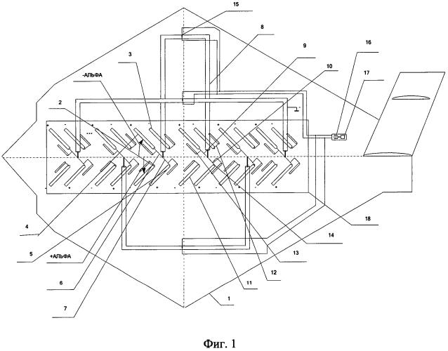 Приемопередающая широкодиапазонная антенная решетка наклонной поляризации из 2*n-пар v-образных вибраторов, расположенных в плоскости