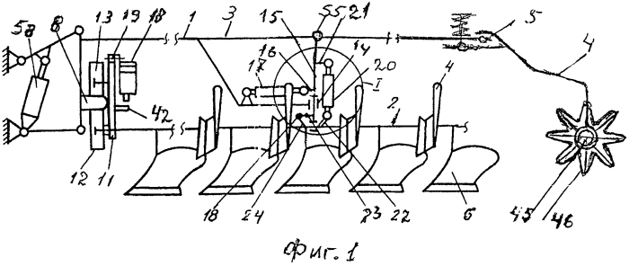 Оборотный плуг универсальный с мульчирователем-глыбодробителем