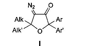 Способ получения тетразамещенных 4-диазо-5,5-диалкил-2,2-диарилдигидрофуран-3(2н)-онов