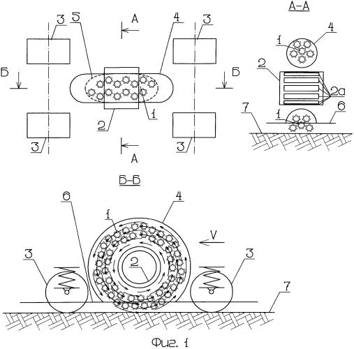Способ создания тягового усилия для наземного транспортного средства и устройство для его реализации