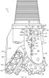 Износоустойчивый материал на кромке затылка лапы и передней кромке шарошечного долота для вращательного бурения