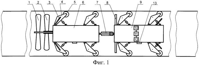 Способ внутритрубной дефектоскопии и двухмодульный дефектоскоп-снаряд