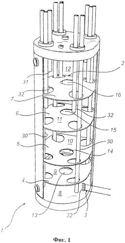Накопительный резервуар с разделительными перегородками
