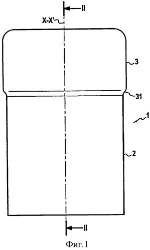 Стеклянный контейнер с горлышком, имеющим внутреннюю резьбу
