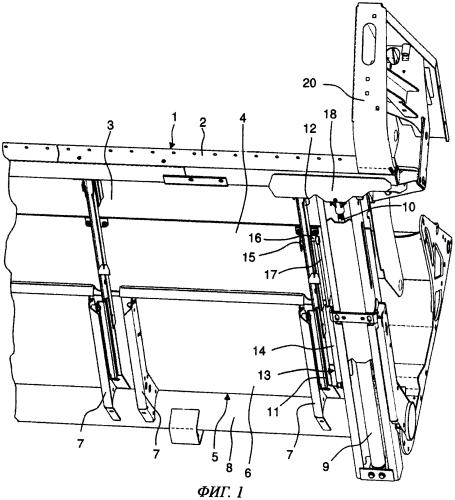 Жатвенный аппарат самоходной уборочной машины