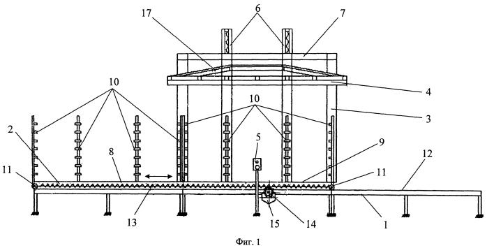 Вертикальный пресс для склеивания многослойных панелей