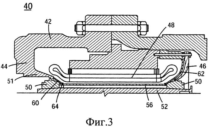 Упругая коническая часть для герметично уплотненного статора, соответствующий двигатель и способ изготовления