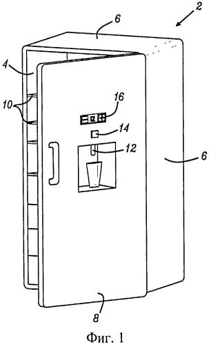 Бытовой прибор, содержащий систему для розлива напитка, а также способ и фильтрующий картридж для розлива напитка