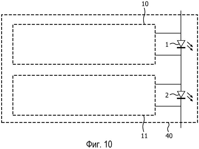 Схема контроля для органического светоизлучающего диода