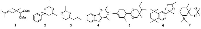 Новые бициклические диоксаны, их получение и применение в качестве ароматических соединений