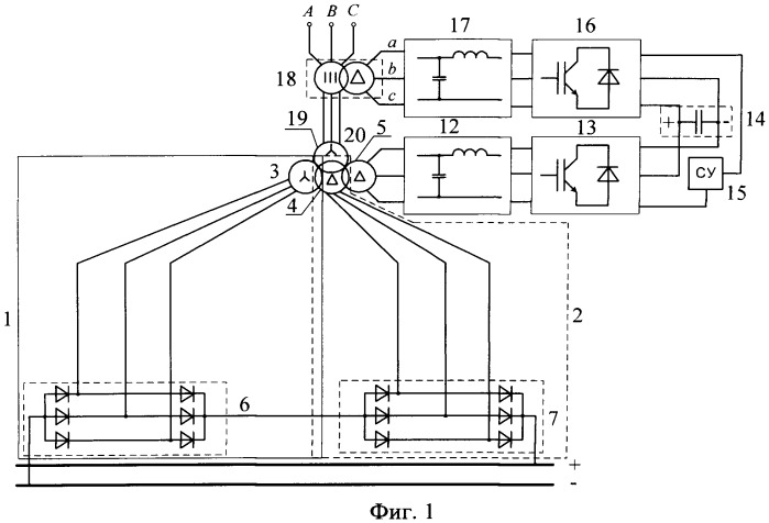 Способ управления многофазным выпрямительным агрегатом