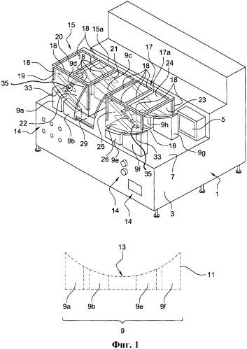 Аппарат для пробивания отверстий и/или сварки на оболочке бампера