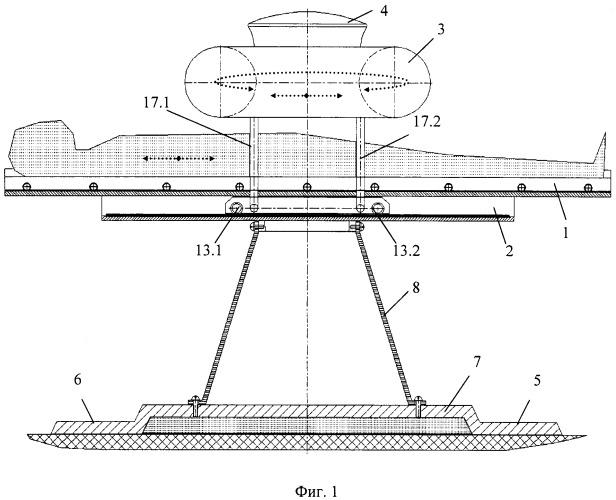 Функциональная структура опорной части медицинского стола с тороидальной хирургической робототехнической системой (вариант русской логики - версия 2)