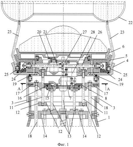 Функциональная структура возвратно-поступательного разворота медицинского стола с тороидальной хирургической робототехнической системой (вариант русской логики - версия 3)