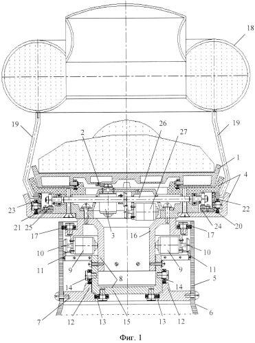Функциональная структура возвратно-поступательного разворота медицинского стола с тороидальной хирургической робототехнической системой (вариант русской логики - версия 1)
