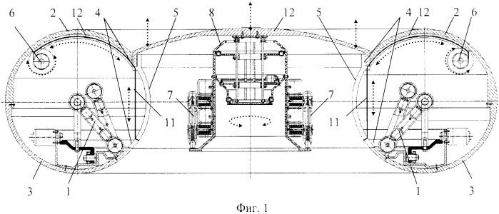Функциональная структура возвратно-поступательного вертикального смещения соосной крышки в тороидальном корпусе робототехнической системы для открытия и закрытия выдвижных диагностических и хирургических элементов (вариант русской логики - версия 1)