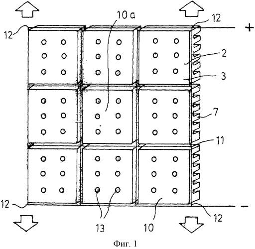 Матрица из масштабируемых керамических носителей диодов со светодиодами