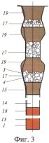 Способ формирования короткой комбинированной забойки взрывных скважин с каменным материалом и устройство для его осуществления
