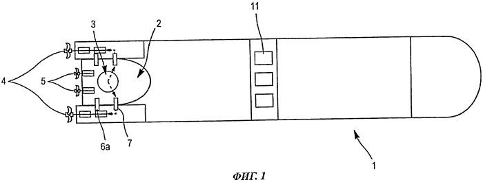 Независимый модуль для производства энергии для судна и соответствующее составное судно