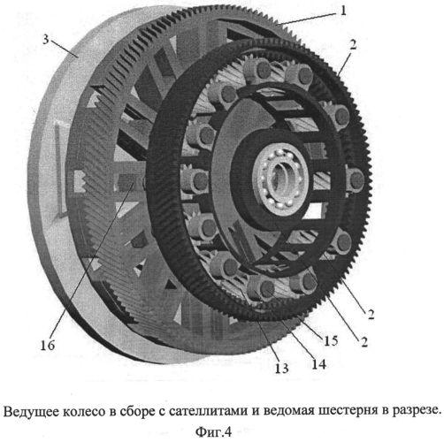 Вариатор на основе шестерни изменяемого диаметра
