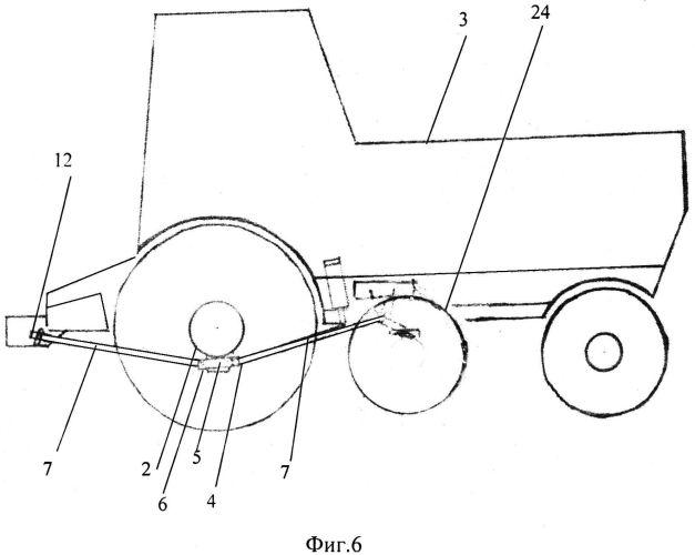Корректор качельного типа колёсного трактора с изменяемой точкой передачи весовой нагрузки