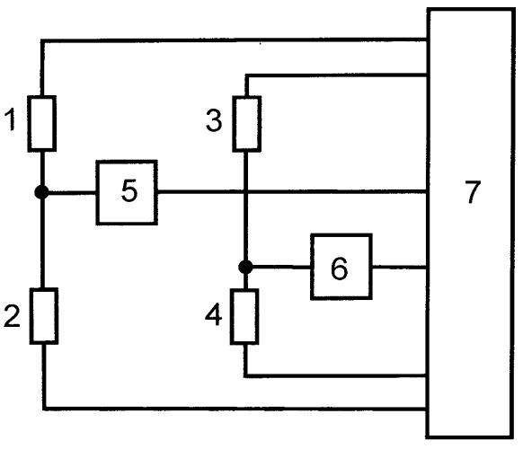 Микроконтроллерный измерительный преобразователь с управляемым питанием резистивных измерительных цепей методом широтно-импульсной модуляции