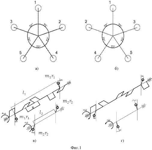 Конструкция пятицилиндрового поршневого двигателя внутреннего сгорания (варианты)