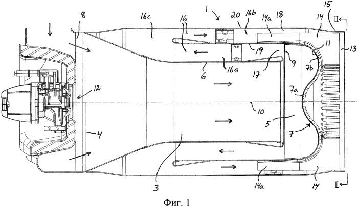 Устройство для ввода жидкой среды в выхлопные газы, выходящие из двигателя внутреннего сгорания