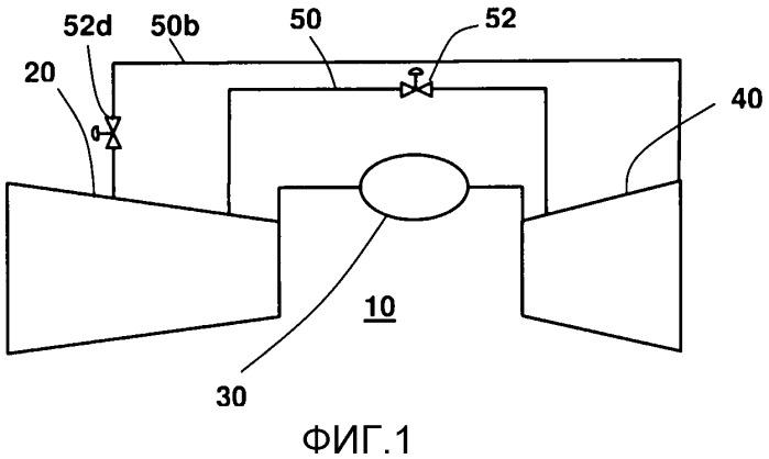 Способ и устройство для регулирования помпажа газотурбинного двигателя