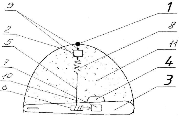 Устройство для контроля подводного плавсредства с самого плавсредства