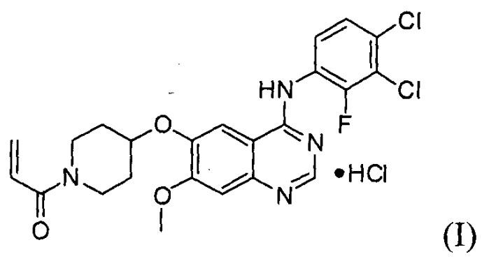 Способ получения гидрохлорида 1-(3,4-дихлор-2-фторфениламино)-7-метоксихиназолин-6-илокси)пиперидин-1-ил)проп-2-ен-1-она и используемых в нем промежуточных соединений