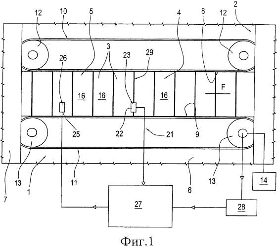 Разгрузочный блок упаковочной машины, изготавливающей контейнеры для табачных изделий