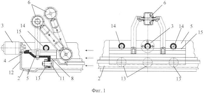 Функциональная структура индивидуального возвратно-поступательного разворота выдвижных элементов для захвата и удержания диагностических и хирургических корпусов внутри тороидальной робототехнической системы с выдвижной крышкой (вариант русской логики - версия 3)