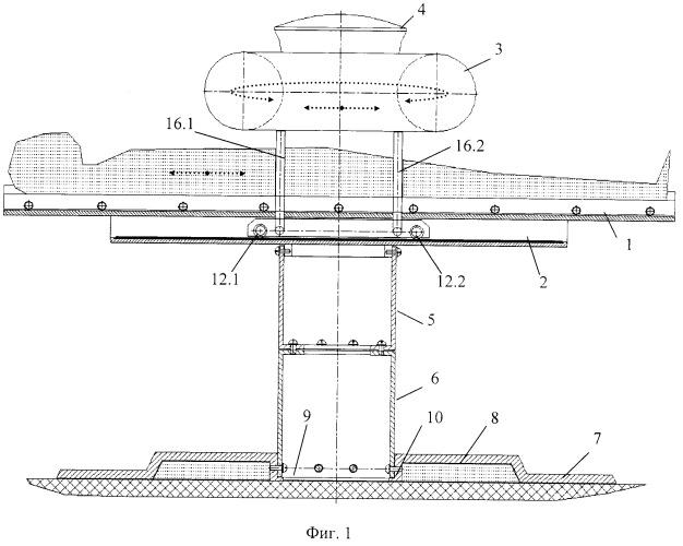 Функциональная структура опорной части медицинского стола с тороидальной хирургической робототехнической системой (вариант русской логики - версия 4)