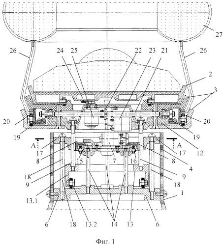 Функциональная структура возвратно-поступательного разворота медицинского стола с тороидальной хирургической робототехнической системой (вариант русской логики - версия 2)