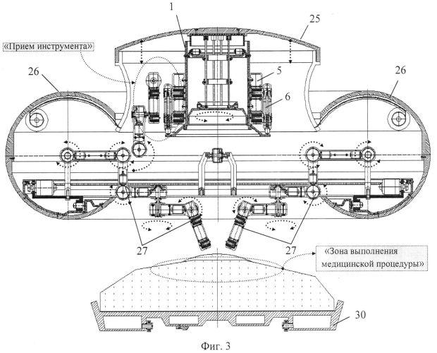 Функциональная структура электромагнитных фиксаторов диагностических и хирургических корпусов выдвижной крышки тороидальной хирургической робототехнической системы (вариант русской логики - версия 1)