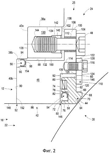 Уплотнение шарового клапана с с-образными уплотнениями подвижного и неподвижного соединений