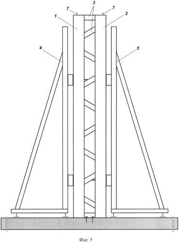 Способ возведения монолитных стен в несъёмной опалубке