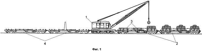 Способ выгрузки и погрузки грузов при аварийно-восстановительных и ремонтно-строительных работах железнодорожного пути и устройство для его осуществления