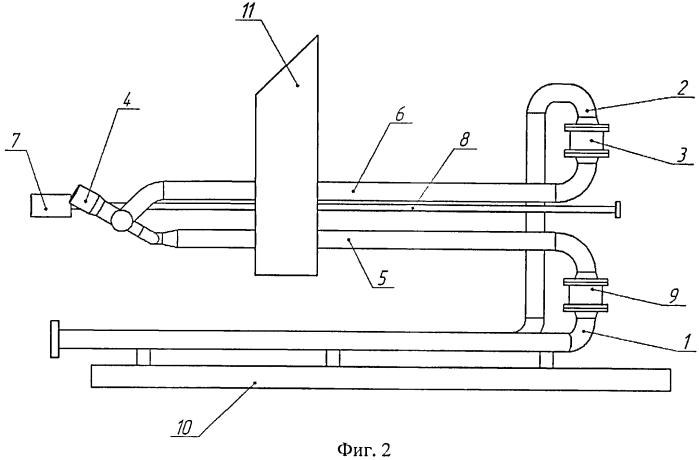 Горизонтальная факельная установка для сжигания жидких углеводородов при пробной эксплуатации и исследовании скважин