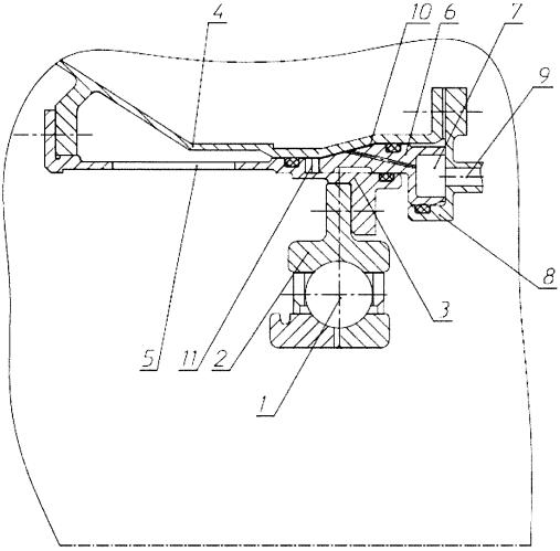 Упругодемпферная опора ротора турбомашины