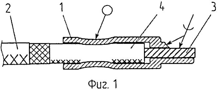 Способ повышения живучести соединения высокочастотного кабеля с прибором