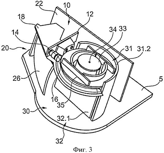 Компоновка отклоняющих зеркал для оптического измерительного устройства и соответствующее измерительное устройство